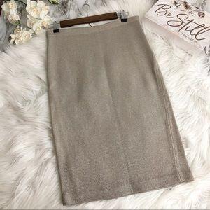 NWT Ralph Lauren Skirt Sweater Knit Metallic, M